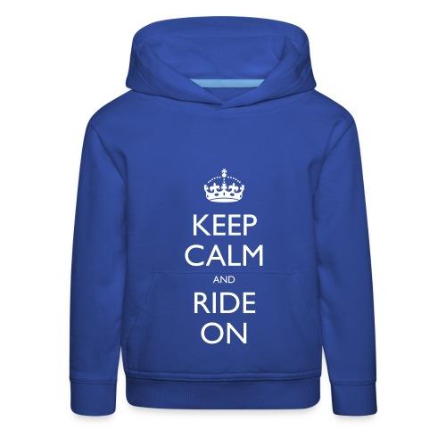 Kids' Premium Hoodie - bike,biker,keep calm,motorbike,motorcycle,ride,rider