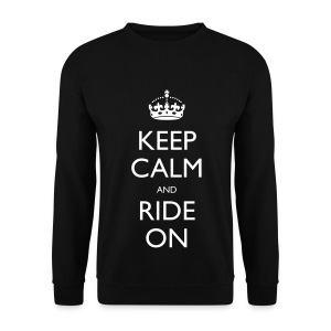 Men's Sweatshirt - bike,biker,keep calm,motorbike,motorcycle,ride,rider