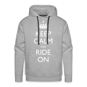 Men's Premium Hoodie - bike,biker,keep calm,motorbike,motorcycle,ride,rider