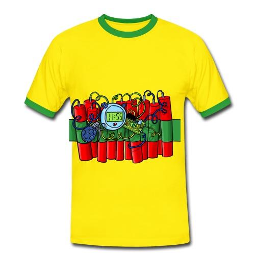 Das Bombenshirt - Männer Kontrast-T-Shirt