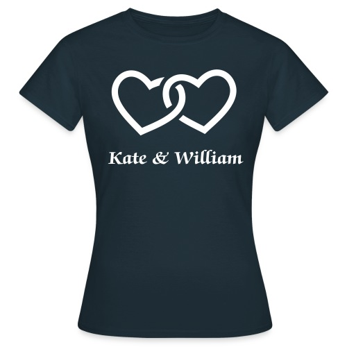 Women's T-Shirt - kate,kate & william,kate and william,kate and william wedding,kate middleton,middleton,prince william,royal wedding,william