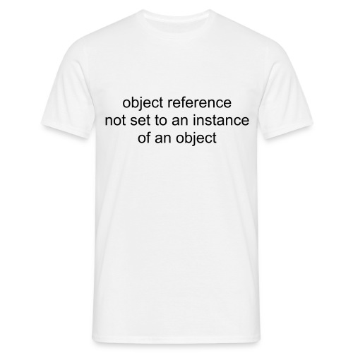 Object reference not set to an instance of an object - Men's T-Shirt