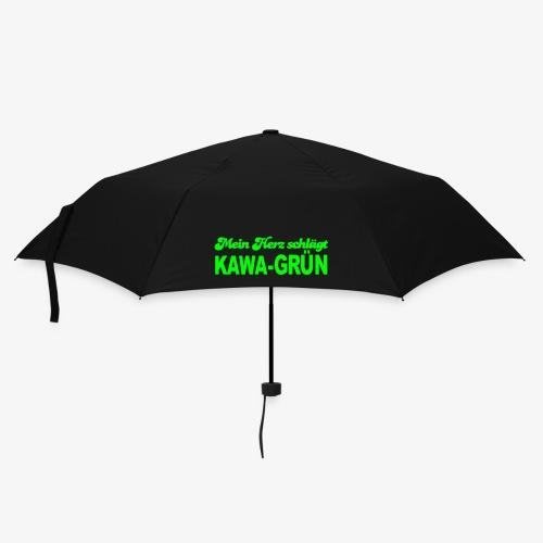 Mein Herz schlägt KAWA-grün - Regenschirm (klein)