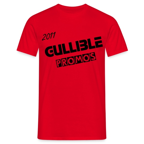 GULLIBLE PROMOS RED/BLK - Men's T-Shirt