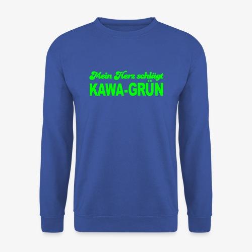 Mein Herz schlägt KAWA-grün - Männer Pullover
