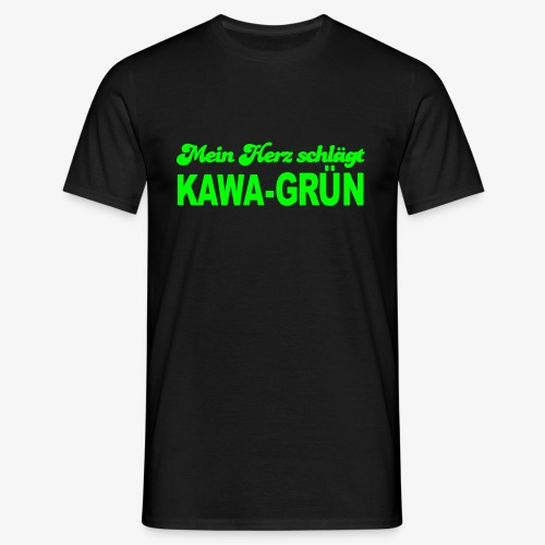 Mein Herz schlägt KAWA-grün - Männer T-Shirt