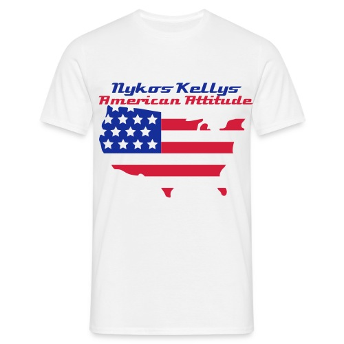 America Atittude By Nykos Kellys  - Men's T-Shirt