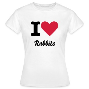 I Love Rabbits - Women's T-Shirt