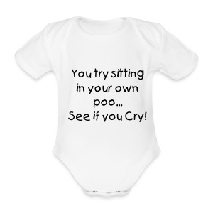 You try sitting.. - Organic Short-sleeved Baby Bodysuit