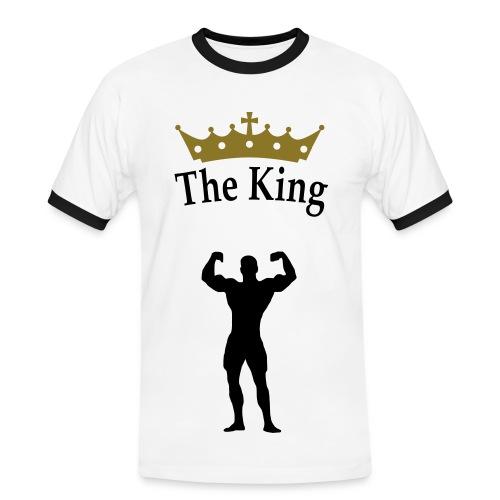 i by a King - Männer Kontrast-T-Shirt