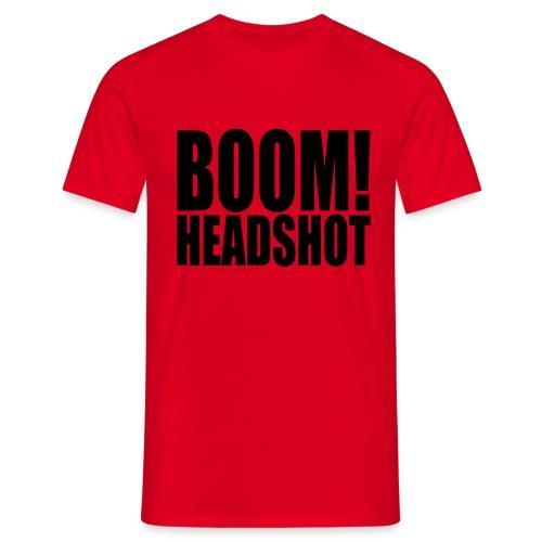 BOOM! Headshot - T-skjorte for menn