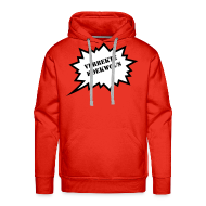 Sweaters ~ Mannen Premium hoodie ~ Verrekte Koekwous - Sweater