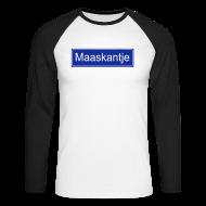 Shirts met lange mouwen ~ Mannen baseballshirt lange mouw ~ Maaskantje - longsleeve