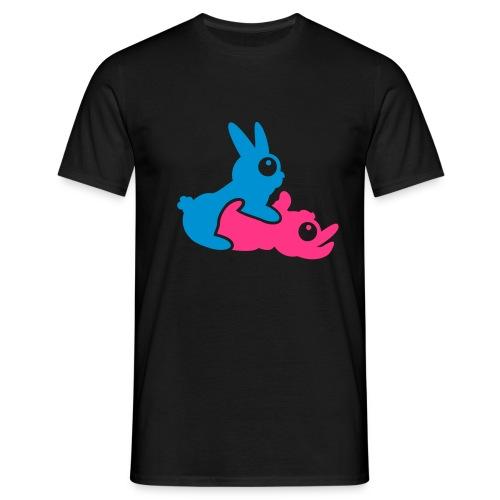 T-Shirt Föhliche Hasen - Männer T-Shirt