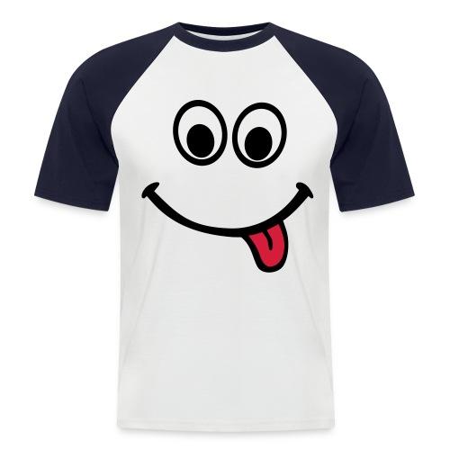 T-Shirt Smile - Männer Baseball-T-Shirt