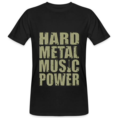 Hard Metal Music Power- Mens Tee - Men's Organic T-Shirt
