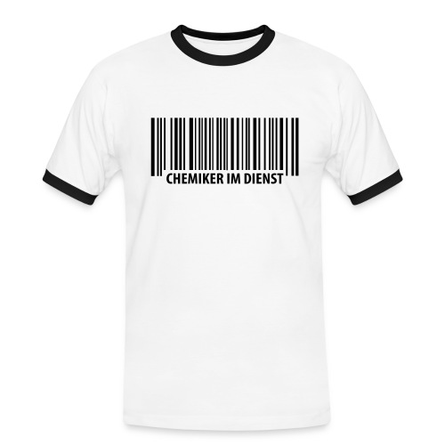 Chemiker im Dienst - Männer Kontrast-T-Shirt