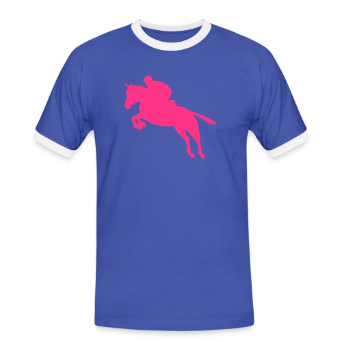 We love horses - Mannen contrastshirt