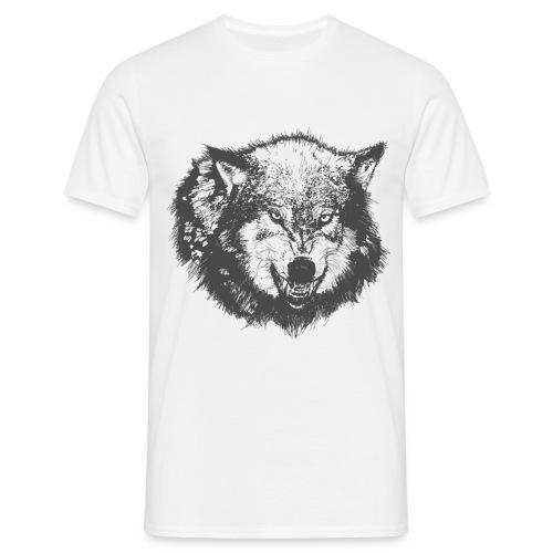 Wolf growling shirt - Men's T-Shirt