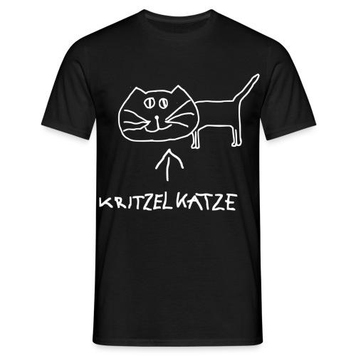 Herrenshirt Kritzelkatze - Männer T-Shirt