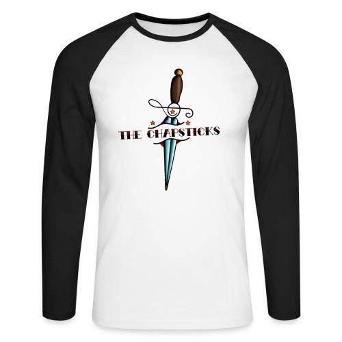 Tvåfärgad långärmad T-shirt - Långärmad basebolltröja herr