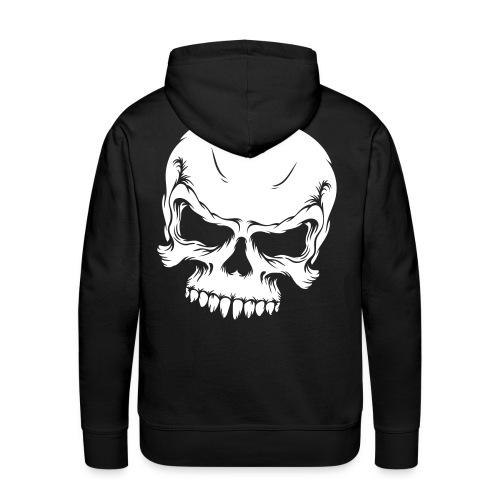 skull sweat-shirt - Sweat-shirt à capuche Premium pour hommes
