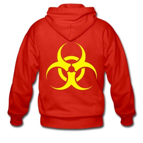 Red Bio Hoodie - Men's Premium Hooded Jacket