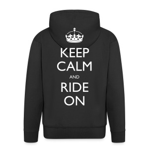Men's Premium Hooded Jacket - bike,biker,keep calm,motorbike,motorcycle,ride,rider