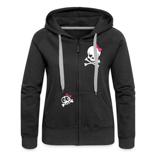 Skull n Bones- Ladies Hoodie - Women's Premium Hooded Jacket