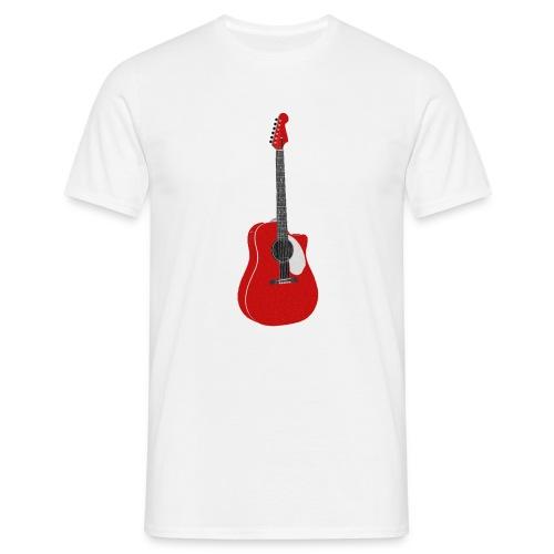 Red Guitar - T-shirt herr