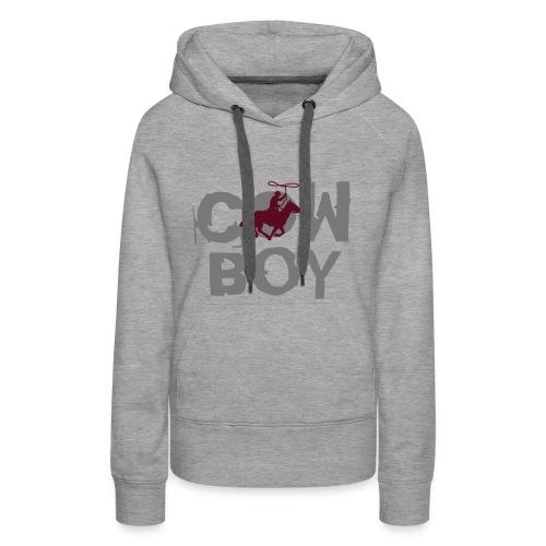 Damen Kapuzenpullover Cowboy - Frauen Premium Hoodie