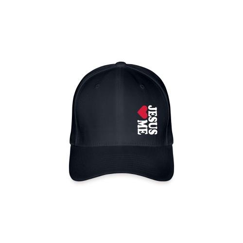 Berretto con motivo: Gesù mi ama - Cappello con visiera Flexfit