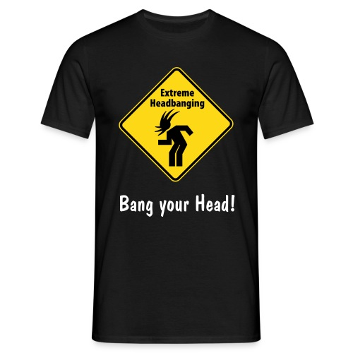 Headbang, Black - Männer T-Shirt