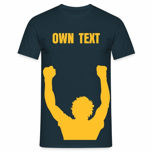BILLY STATUE - ON UP - OWN TEXT - Men's T-Shirt