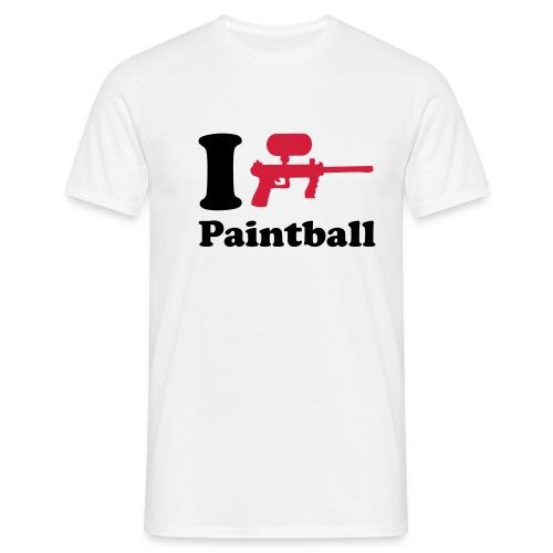 I Love Paintball - Männer T-Shirt