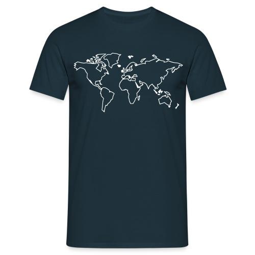 Männer T-Shirt mit Rückenbeschriftung - Männer T-Shirt