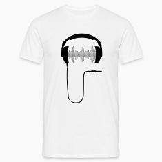 Headphone DJ club music sound turntable Party Sound Beat T-Shirts