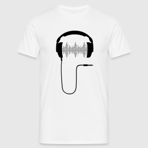 Headphone DJ club music sound turntable Party Sound Beat T-Shirts - Men's T-Shirt