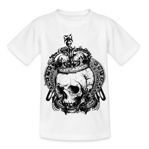 Royal Dead - Kids White - Teenage T-Shirt