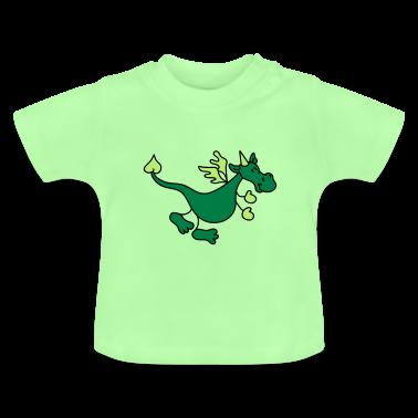 Netter grüner Drache Baby T-Shirts