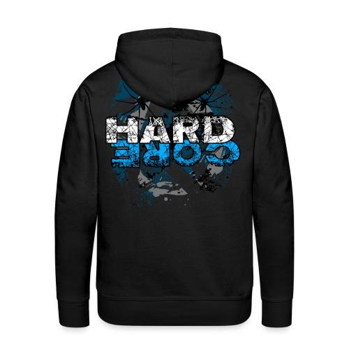 Hard Core black hooded sweater - Men's Premium Hoodie