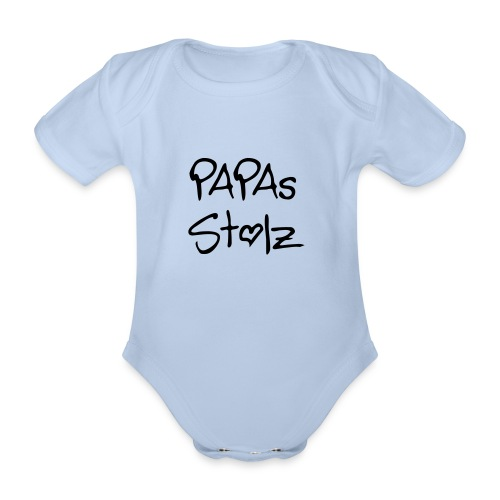 Papas stolz red - Baby Bio-Kurzarm-Body