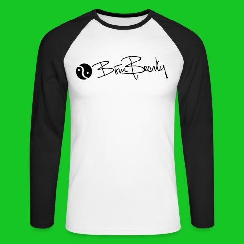 Born Beauty heren Long sleeve zwart/wit - Mannen baseballshirt lange mouw