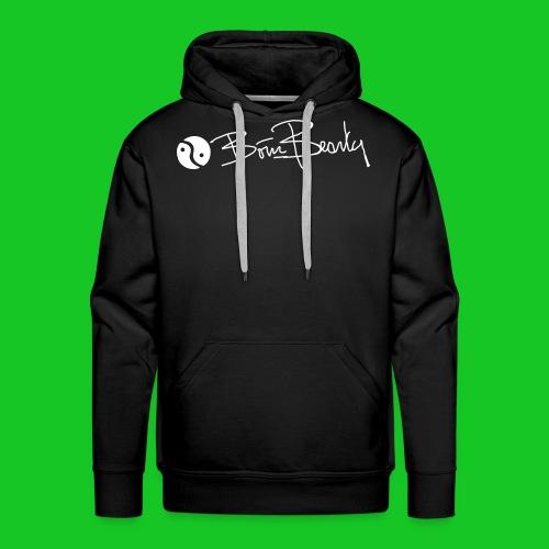 Born Beauty heren hoodie zwart - Mannen Premium hoodie