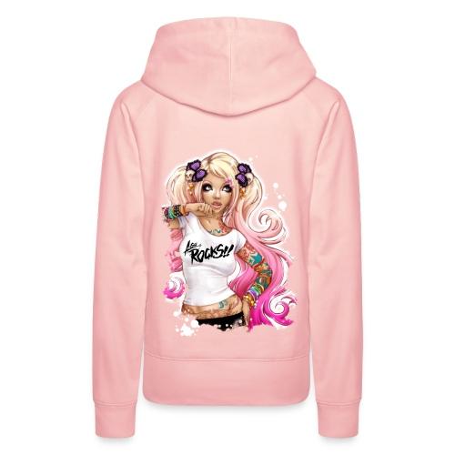 AsuROCKS GIRL Hoodie Pink - Frauen Premium Hoodie