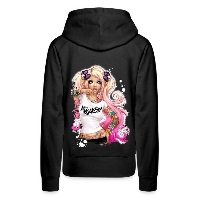 AsuROCKS GIRL Hoodie Black