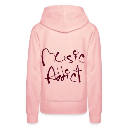 Addicted to Music Pink - Bluza damska Premium z kapturem
