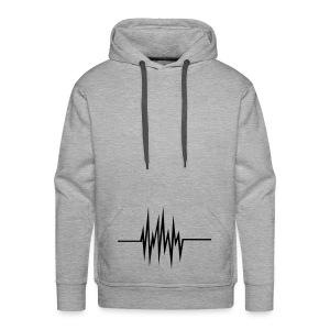 Grey Music Play - Bluza męska Premium z kapturem
