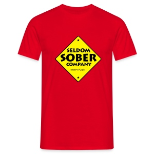 Männer T-Shirt - st. patricks day,seldom sober company,patricks,musik,irish folk,irish,folkband