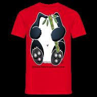 Tee shirts ~ Tee shirt Homme ~ Panda homme rouge